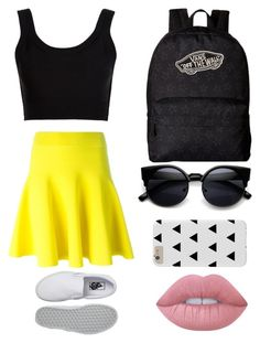 """Untitled #427"" by dj-megatron88 ❤ liked on Polyvore featuring Vans, Calvin Klein Collection and Lime Crime"