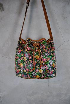vintage purse KENZO PARIS floral printed by youngandukraine