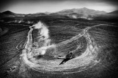 17.01.2014 r., Chile, El Salvador: Hiszpan Joan Barreda Bort na trasie prowadzącej do La Serena. (Foto: Dean Mouhtaropoulos/Getty Imag...