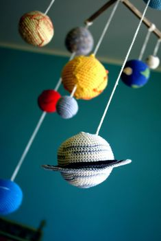 Solar System Planet's Mobile  Crochet Baby by YarnBallStories, $115.00