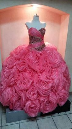 2015 Sexy Pink ᐊ Quinceanera Dresses Ball Gown with Lace-Up ᑎ‰ Organza Beading Ruffles Sweet 15 Dress Vestidos De 15 Prom Gowns 2015 Sexy Pink Quinceanera Dresses Ball Gown with Lace-Up Organza Beading Ruffles Sweet 15 Dress Vestidos De 15 Prom Gowns Long Sleeve Quinceanera Dresses, Pink Wedding Dresses, Unique Prom Dresses, Prom Gowns, Quince Dresses, Ball Dresses, Girls Dresses, Sweet 15 Dresses, Lovely Dresses
