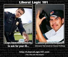 Break the speed limit - cops have the right to ask for ID - unless of course, you are Hispanic
