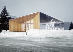 flaine ski resort pavillon d'accueil | visitor centre - haute savoie - r - 2013 - photo valentin jeck