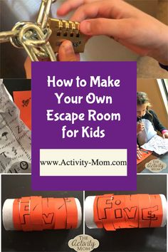Make Your Own Escape Room for Kids. How to make an escape room for kids of all ages. Escape Room Ideas that are simple and easy. Create an Escape Room for a Kids Party. #escaperoom #escaperoomforkids #kidsescaperoom #howtomakeyourown #diyescaperoom Building Games For Kids, Outdoor Games For Kids, Fun Board Games, Group Games, Escape Room Challenge, Escape Room For Kids, Make Your Own, Make It Yourself, Card Games