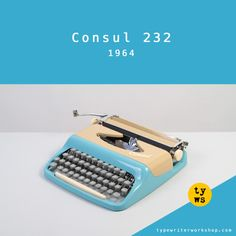 The lovely ultra-portable Consul typewriter from the 1960s!