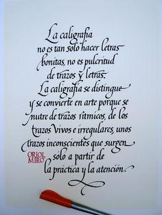Text d'Oriol Miró sobre cal·ligrafia | da xelo garrigós
