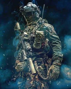 Amazing edit by of my popular pix in impression kit from and . Special Forces Gear, Military Special Forces, Military Love, Military Guns, Military Art, Army Pics, Military Pictures, Military Drawings, Military Action Figures