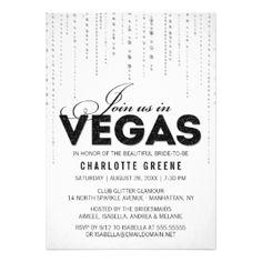 Glitter Look Join Us In Vegas Invitation