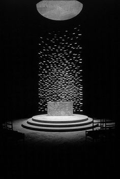 Kresge Chapel, campus MIT, Cambridge, Massachusetts, 1955 Eero Saarinen Escultura Harry Bertoia