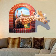 Oderin Art Wall Decal 3d Cartoon Giraffe Removable Mural Wall Stickers for Kids Children Home and Wall Decor Oderin Art http://www.amazon.com/dp/B017G6X5YI/ref=cm_sw_r_pi_dp_wz.ywb0BJE7KY