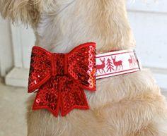 Christmas Dog Collar in Raindeer by MuttsnBones on Etsy