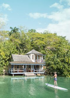 Jamaica Goldeneye Resort & Spa Reminds me of paddle boarding in the Florida canals Oh The Places You'll Go, Places To Travel, Places To Visit, Bungalows, Dream Vacations, Vacation Spots, Jamaica Vacation, Sup Yoga, Cute Cottage