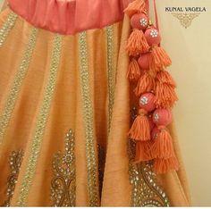 Kunal # detail # tassel # hand work # Indian fusion wear
