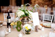 La Banque at the Seaplane Base Wedding - Havre de Grace Weddings Natural Flowers in Vintage Silver