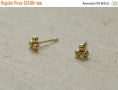 ON SALE happy new year Fedex 2 days 10K Gold tiny by tinytinygold
