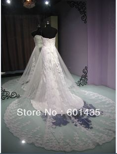 Find More Wedding Dresses Information about Freeshipping! Daneileen WR2110 White Bling Royal Train Romance Illusion Vintage Lace Wedding Dress,High Quality lace mermaid wedding dress,China mermaid lace wedding dress Suppliers, Cheap mermaid style wedding dress from Daneileen International Bridal Dresses on Aliexpress.com
