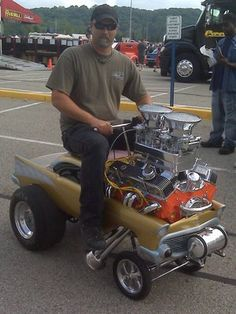 '57 Chevy pedal car/ gasser/ small block Chevy/ straight axle/ pressure tank/ the works!