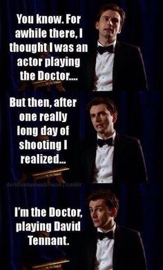 Davide Tennant on Doctor Who