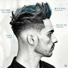 Best Men's Short Sides, Long Top Hairstyles - Low Bald Fade + Line Up + Surgical Part + Textured Modern Quiff Hairstyles Haircuts, Haircuts For Men, Trendy Hairstyles, Hairstyle Short, Blonde Hairstyles, Short Haircuts, Men Blonde Highlights, Hair And Beard Styles, Curly Hair Styles