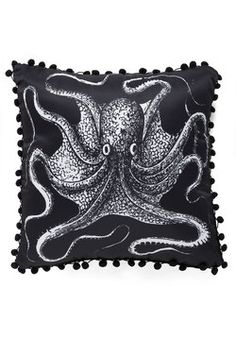 Count to Tentacle Nautical Pillow, #ModCloth