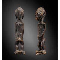 Très belle statue féminine, Baulé, Côte d'Ivoire   lot   Sotheby's