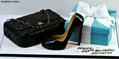 Chanel Bag, Louboutin Shoe & Tiffany Box by Kingfisher Cakes, via Flickr