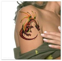 Temporary Tattoo Dragon Waterproof Ultra Thin Realistic Fake Tattoos by UnrealInkShop on Etsy https://www.etsy.com/listing/235203070/temporary-tattoo-dragon-waterproof-ultra
