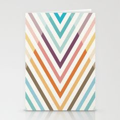 30 Degrees Diagonal Stripes Stationery Cards by Becky Nimoy - $12.00