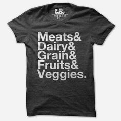 I want this Food Groups (Adult) T-Shirt from Hello Apparel (via @hellomerch)