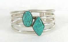 Authentic Native American Navajo vintage Sterling Silver Turquoise bracelet