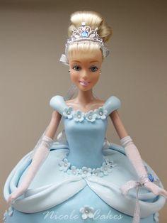 Precious Cinderella doll cake!