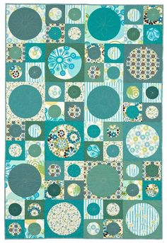 Dot to Dot: The gently curved edges of large circles make this a simple-to-sew quilt.