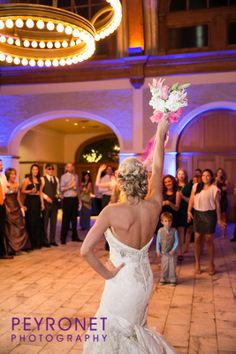 Ashton Depot, Fort Worth - Reception #FortWorthWeddings #Reception #BouquetToss #Bride #Classic