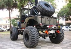 Jeep Willys CJS with TeraFlex Revolvers on it.