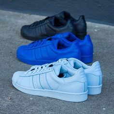 finest selection d1b04 31167 Pharrell x adidas Originals Superstar Supercolor Pack Blue Shoes, Blue Adidas  Shoes, Nike Sneakers