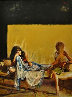 "Saatchi Online Artist Marco Ortolan; Painting, "".Two gypsy"" #art"
