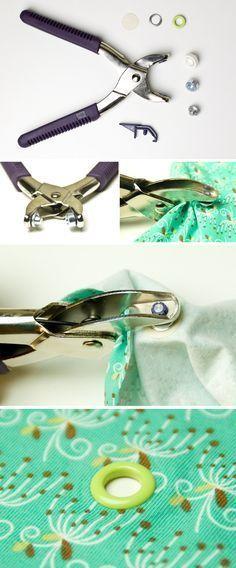 Gebrauchsanleitung: Snaply Ösen anbringen mit der Prym Vario Zange oder dem Prym Ösen Werkzeug
