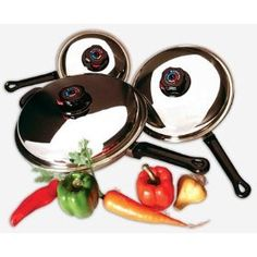 Precise Heat 6pc Stainless Steel Skillet Cookware Set with Steam Control Knobs Review