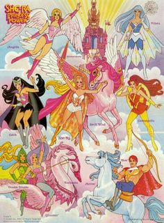 She-Ra Princess of Power and friends.  Loved this cartoon. I bought the DVD set and my little one fell in love with after the first episode.  G;)