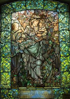 Tiffany stained glass windows made by Louis Comfort Tiffany, son of the famous jeweler. At the Arlington Unitarian Church in Boston City. Tiffany Glass, Tiffany Stained Glass, Tiffany Jewelry, Stained Glass Church, Stained Glass Art, Stained Glass Windows, Art Nouveau, Mosaic Art, Mosaic Glass