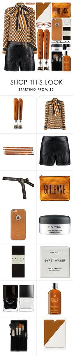"""Fall Footwear: Over-The-Knee Boots"" by barbarela11 ❤ liked on Polyvore featuring Boohoo, Moshi, MAC Cosmetics, Falke, Byredo, Butter London, Molton Brown, Topshop and Proenza Schouler"