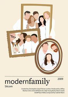 Modern Family Minimalist A4 Retro Art Movie Poster Print Art   Etsy