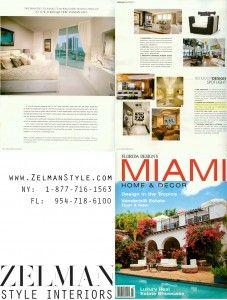 Zelman Style Interiors Featured in Florida Design's Miami Home & Decor Magazine   Zelman Style Interiors