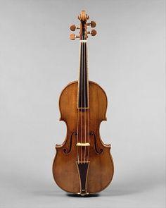 """The Gould"" Violin Maker: Antonio Stradivari (Italian, Cremona 1644–1737 Cremona) Date: 1693 Geography: Cremona, Italy Culture: Italian (Cremona) Medium: Maple, spruce, ebony Dimensions: W. 19.7 x L. 59 cm (7 3/4 x 23 1/4 in.) Classification: Chordophone-Lute-bowed-unfretted"