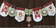 banner Stampin' Up! Holiday Banner, Christmas Banners, Stampin Up Christmas, Handmade Christmas, Christmas Fun, Celebrating Christmas, Christmas Themes, Christmas Decorations, Bunting Banner