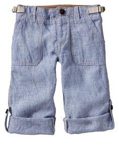 Gap | Roll-up chambray pants