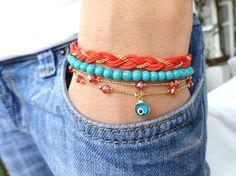 Ethnic bracelet set  by Handemadeit, $26.90