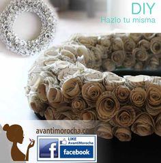 Paper roses wreath #diy #paper #dollarstore #dollarstorecrafts