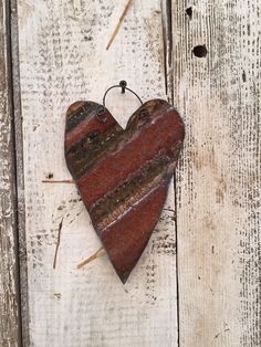 Corrugated Metal Heart Ornament with Muslin Hanger Corrugated Metal, Heart Ornament, Insects, Hanger, Ornaments, Detail, Christmas Ideas, Hearts, Spring