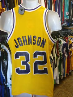 #xl3vintageclothing Now available in our store Vintage #32 MAGIC...  Check it out here!!  http://xl3vintageclothing.net/products/vintage-32-magic-johnson-los-angeles-lakers-sand-knit-jersey-m?utm_campaign=social_autopilot&utm_source=pin&utm_medium=pin